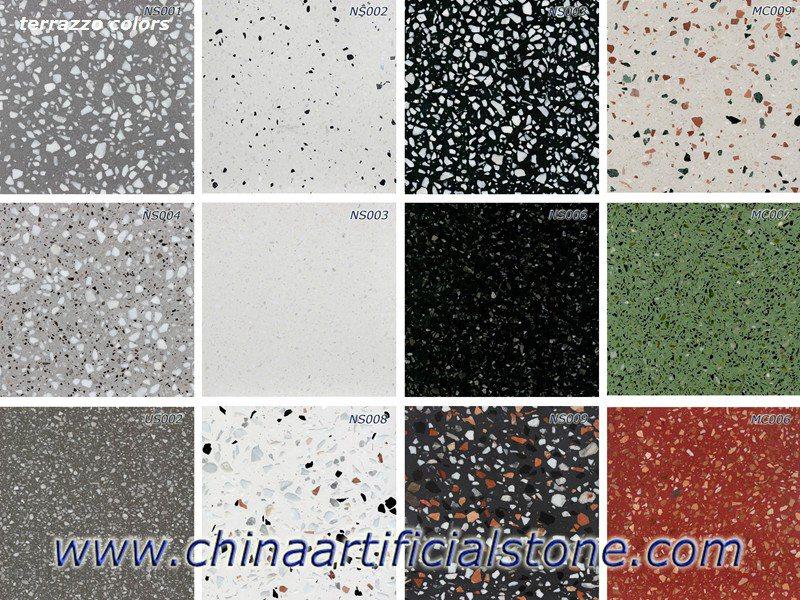 Concrete Terrazzo Stone Floor Tiles Suppliers Enming Stone