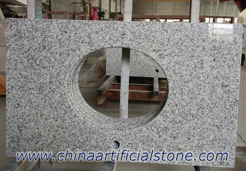 China White Grey Granite Countertops for Commercial Projects