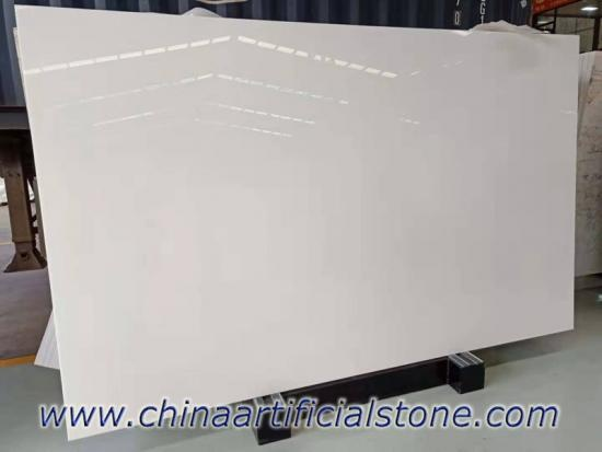 Pure White Nano Glass Granite Stone Slab