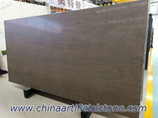 Iron Corten Metal Brown Sintered Stone Matt Slab
