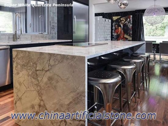 Brazil Super White Quartzite Countertop