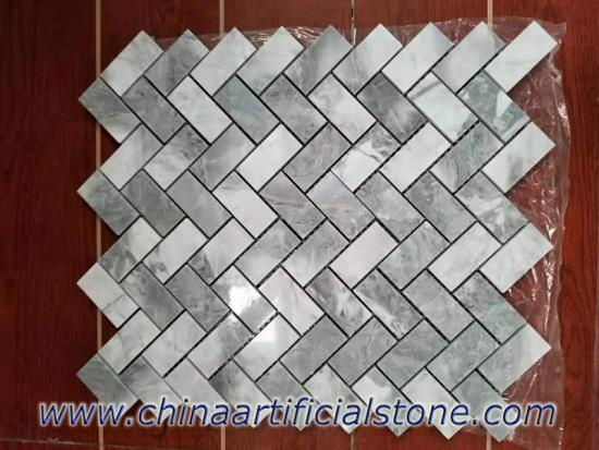 Super White Quartzite Dolomite Mosaics Tiles