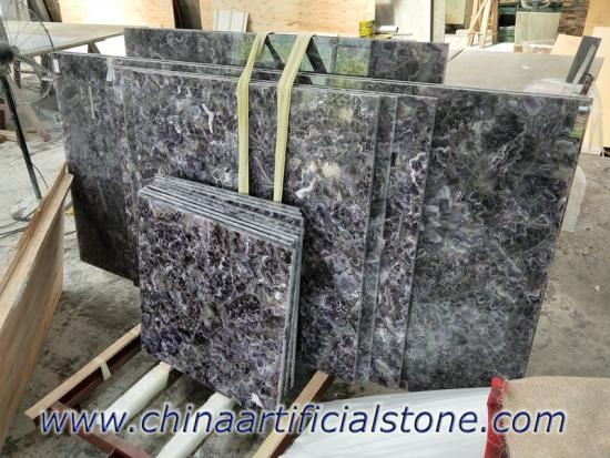 Customized Amethyst Tiles Slabs and Countertops