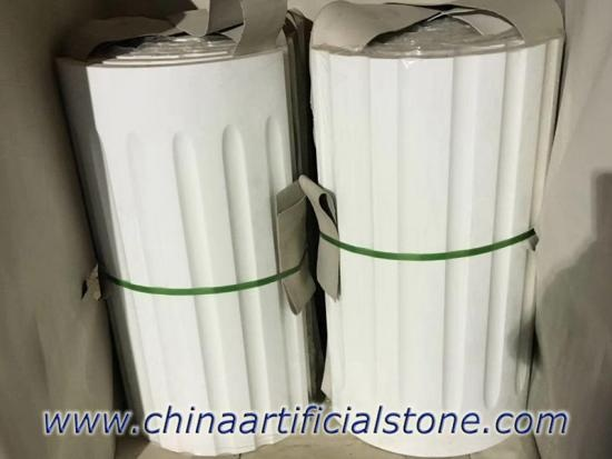 Pure White Nano Glass Marble Column Panel