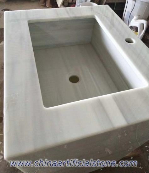 Grey Wood Vein Nanoglass Countertops Vanity top