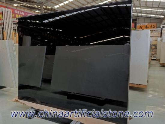 Black Marmoglass Crystallized Glass Panel