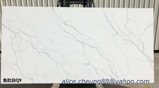 China Top Malaysia Calacatta Quartz Stone Slabs Factory