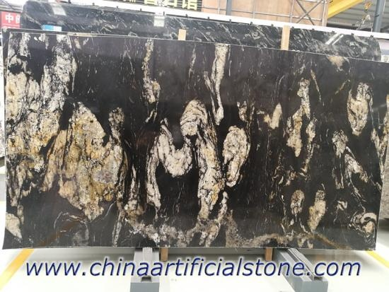 Brazil Matrix Titanium Black Granite Slab