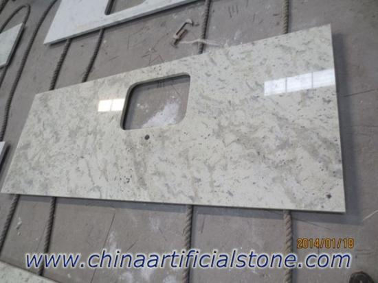 Andromeda White Light Green Granite Countertops