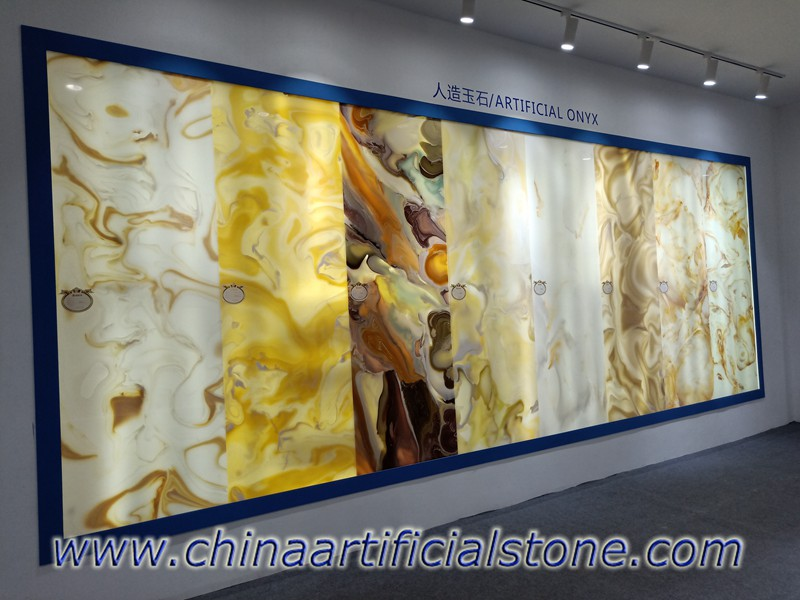 Artificial Onyx Slabs for Backlit Wall Decoration