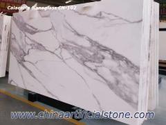 Calacatta White Nano Glass Slab CN102