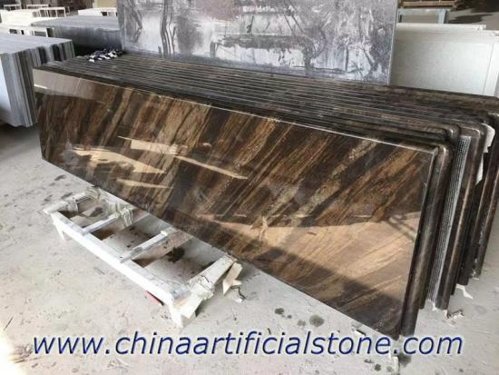 Flowing Brown Granite Countertops Sir Lanka
