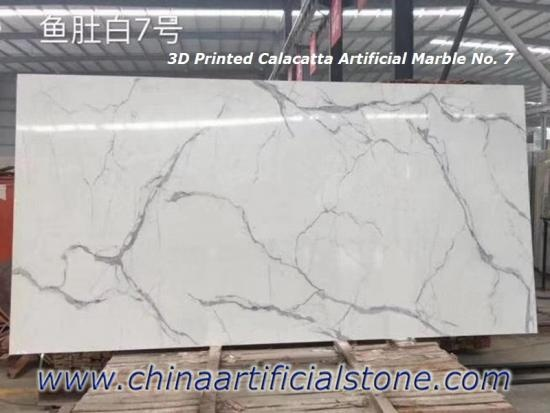 3D Printed Artificial Marble Slab