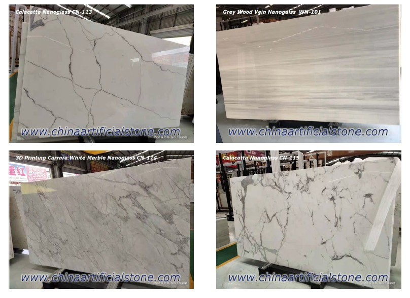 Inject Printing Nano Crystallized Glass Stone Slabs