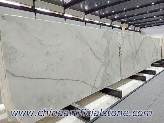 Natural Calacatta White Marble Slab