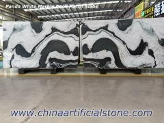 China Panda White Marble Book Match Slab