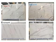 3D Inject Printing Artificial White Marble Slab