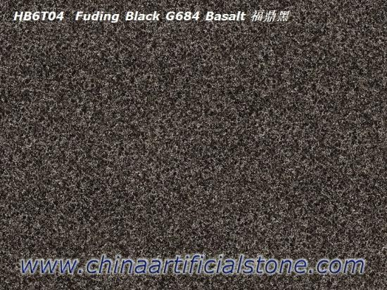 Black Porcelain Paver Tile G684 Black Basalt Look
