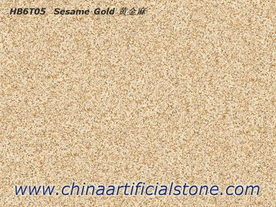 Sesame Gold Granite G682 Look Porcelain Paver Tiles