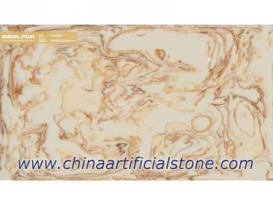 Artificial Translucent Faux Onyx Stone Slabs TR8001