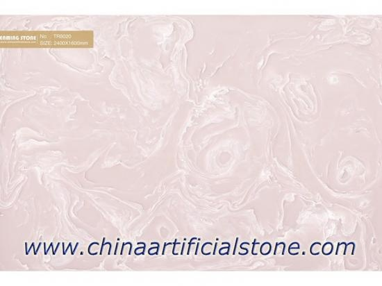 Backlit Pink Artificial Onyx Sheet TR8020