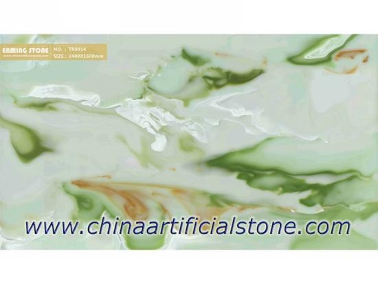 Green Artificial Onyx Backlit Wall Stone Sheets