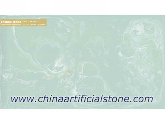 Backlit Green Artificial Onyx Sheet TR8017