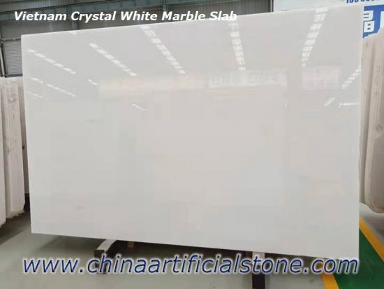 China Top Premium Vietnam Crystal White Marble Jumbo Slabs Factory