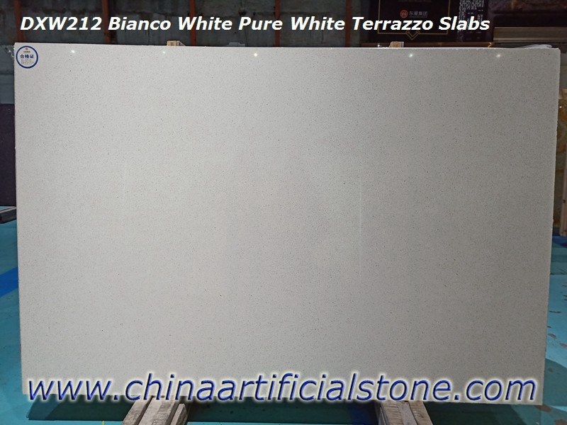 Bianco White Pure White Terrazzo Tiles and Slabs DXW212