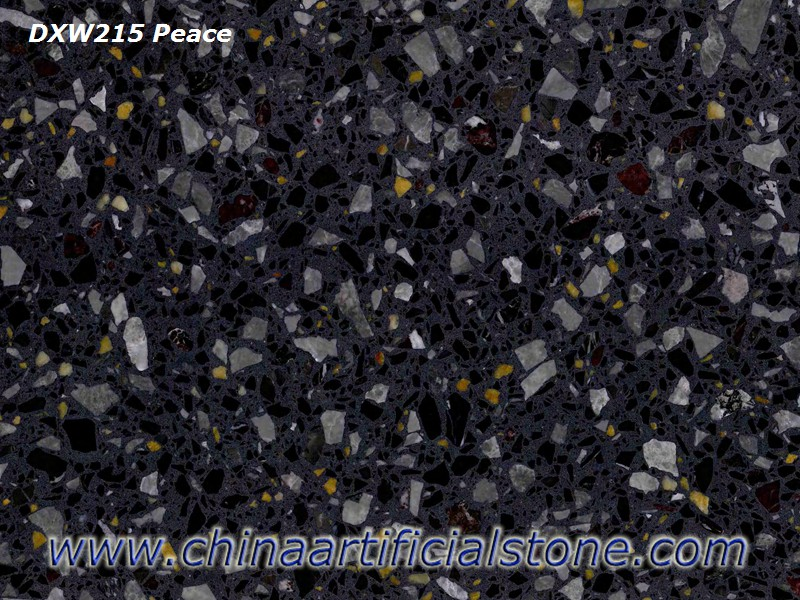 Black Ink Terrazzo Tiles and Slabs For Floor and Wall DXW216