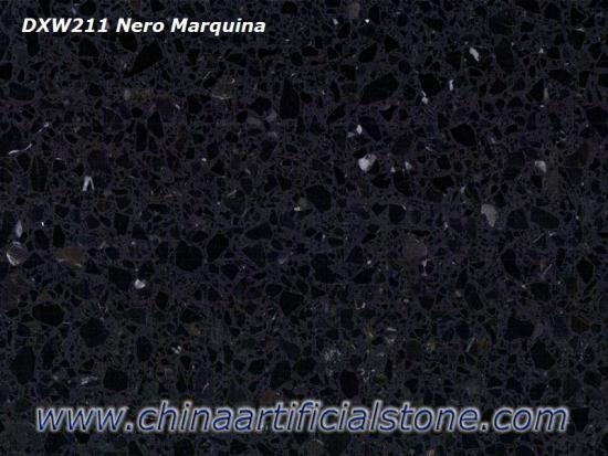 Nero Marquina Black Terrazzo Tiles and Slabs