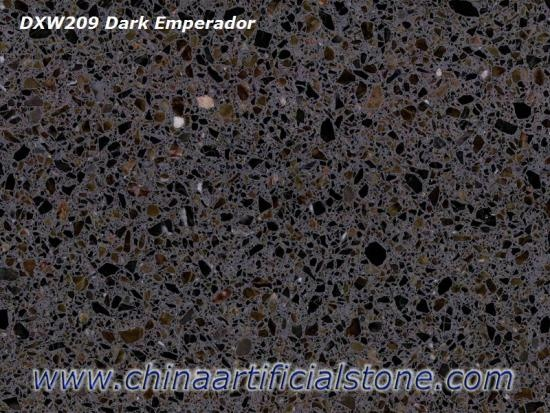 Dark Emperador Brown Terrazzo Tiles and Slabs