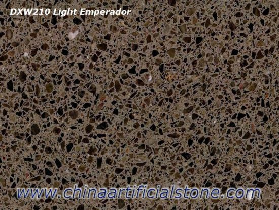 Light Emperador Brown Terrazzo Tiles
