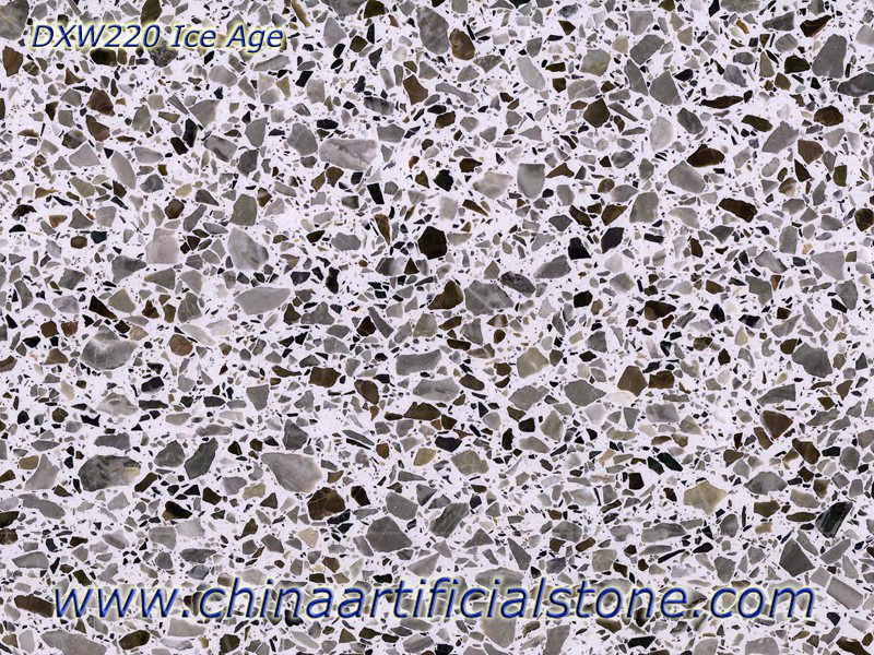 Multicolor Terrazzo Tiles and Slabs Ice Age DXW220