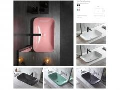 Ceramic Semi Recessed Wash Basins