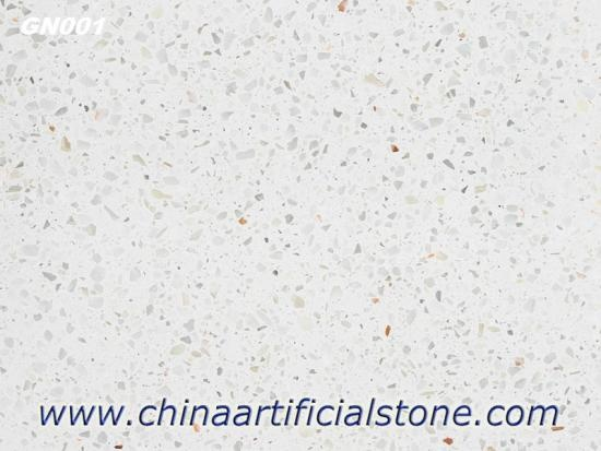 White Terazo Terrazzo Slabs Tiles Concrete Based