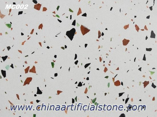 Beige Terrazzo Tiles and Slabs with Multicolor Aggregate