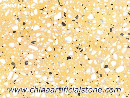 Yellow Terrazzo Tiles Slabs for Flooring and Wall