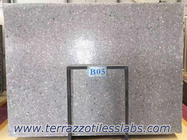 Large Aggregate Terrazzo Slabs for Countertops
