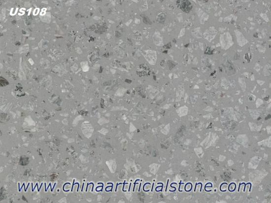 China Top Large Aggregate Grey Marble Terrazzo Tile and Slabs Factory