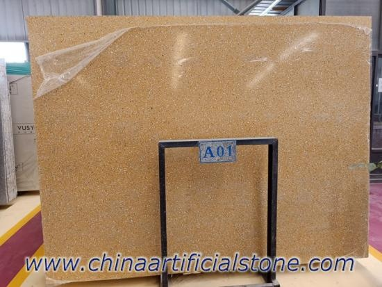 China Top Yellow Terrazzo Slabs Factory