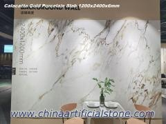 6mm Calacuta Porcelain Slab 1200x2400mm for Wall Background