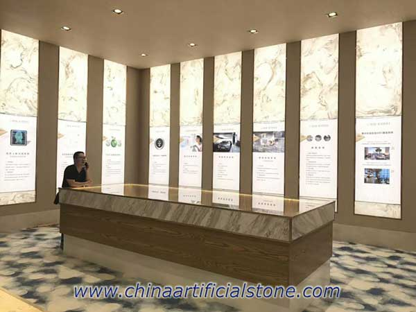 Translucent Faux Onyx Artificial Onyx Stone Backlit Panels